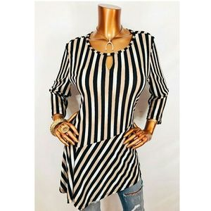 🌏HP🌎 Dana Buchman Striped Tunic